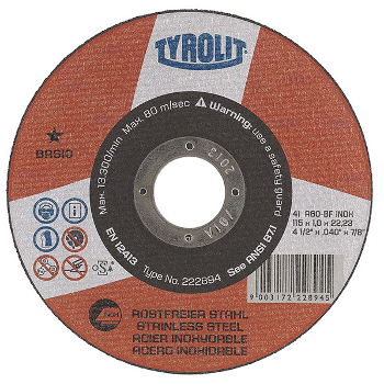 tyrolit basic cut-off discs
