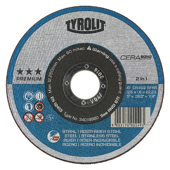tyrolit premium cerabond 2 in 1 cut-off disc